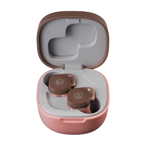 ATH-SQ1TW 充電盒 (粉咖啡)