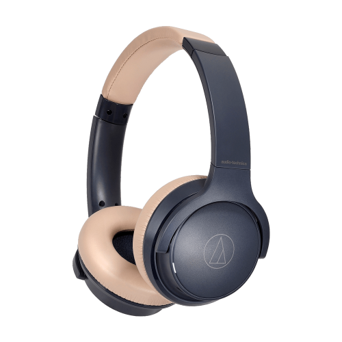 ATH-S220BT 無線耳罩式耳機 (灰藍杏)