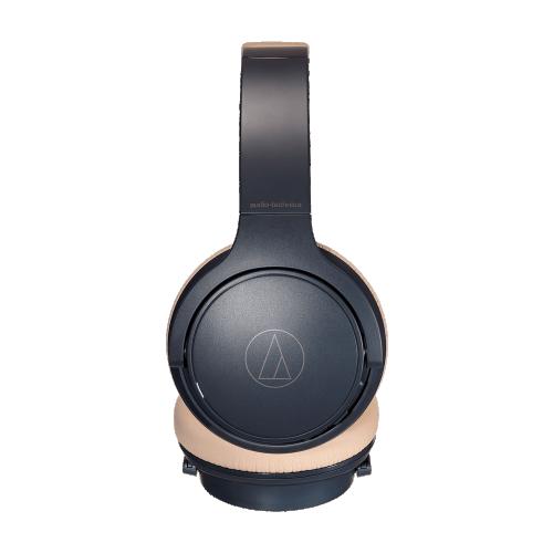 ATH-S220BT全罩式藍芽耳機 (灰藍杏)