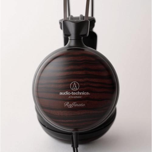 ATH-W5000 機殼採用音響特性非常優越的天然條紋黑檀木材