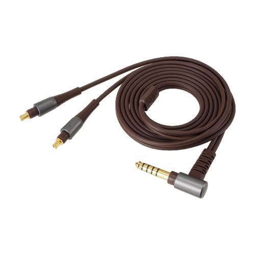 ATH-MSR7b 導線(1.2m/Ø3.5mm鍍金立體聲迷你插頭/ L型) - 鐵灰色