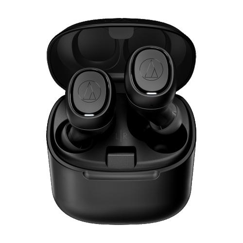 ATH-CK3TW 真無線耳機(黑色),搭配充電盒使用,最長可使用30小時