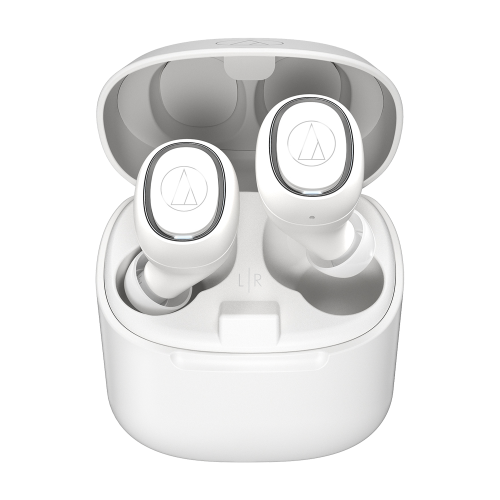 ATH-CK3TW 真無線耳機(白色),搭配充電盒使用,最長可使用30小時
