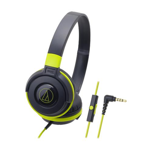 ATH-S100iS 智慧型手機用攜帶式耳機(黑綠色)