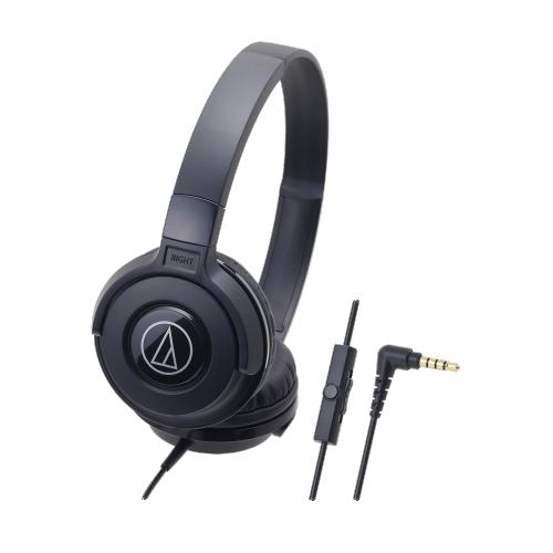 ATH-S100iS 智慧型手機用攜帶式耳機(黑色)